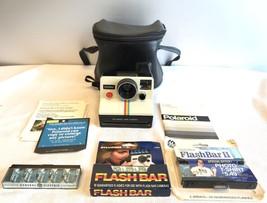Kodak Polaroid OneStep White Rainbow SX-70 Land Camera with Flashes Manu... - $93.75