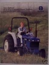 1998 New Holland 1720, 1920, 2120, 3415 Tractors Brochure - $4.80