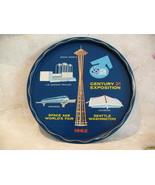Seattle Worlds Fair 1962 Drink Serving Tray Vintage Souvenir Collectible  - $19.99