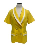 Vintage Berg-Ray Frock women's blouse blazer short buttons front size 14 - $19.77