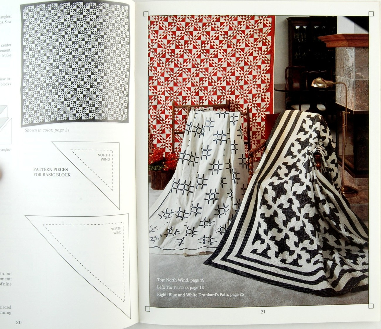 Collector Quilts Book I Red & White, Blue & White Quilt Patterns Marti Michell