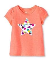 Circo Baby & Toddler Girls' Short Sleeve Star T-Shirt Moxie Peach Size 1... - $7.99