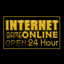 130053B Internet Game Online 24 Hours Hot Software System Elegant LED Light Sign - $18.00