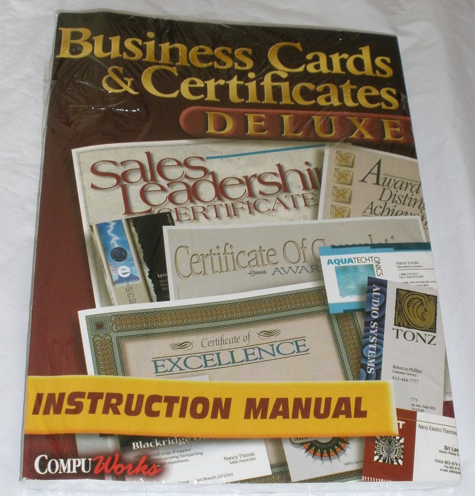 Business cards   cert   deluxe    manual