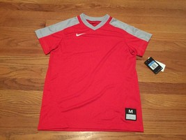Nike Boys Large Vapor Dri-FIT SS V-Neck Baseball Performance Shirt Red 7... - $19.79