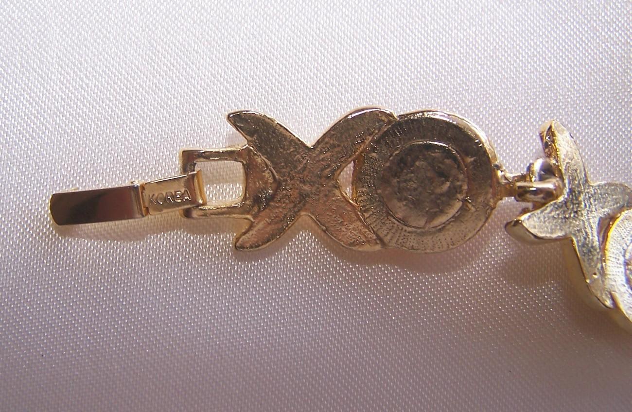 Vintage Red Glass Cabochons Bracelet Earrings