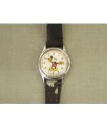 Vintage Mickey Mouse Wrist Watch Lorus Quartz Japan silver V515-6128 2 p... - $23.75