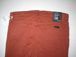 Womens New Designer NWT Joes Denim Jeans 28 Legging Brick Dust Dark Orange Soft image 4