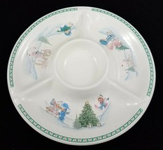 Vintage 1997 Precious Moments Enesco Christmas Platter Tray Chips Dip Ve... - $39.50