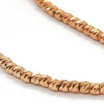 18K ROSE GOLD BRACELET WITH FINELY WORKED SPHERES, 1.5 MM DIAMOND CUT BALLS image 3