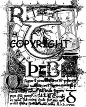 """4 X 5"""" Mermaid Script Collage New Mounted Rubber Stamp - $18.30"""