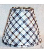 New Country Plaid Mini Chandelier Lamp Shade - $8.00