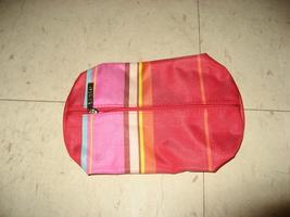 Clinique Red Striped makeup bag - $4.99