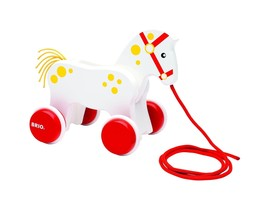 BRIO 130 Anniversary Pull Along Horse Baby Toy - $35.08