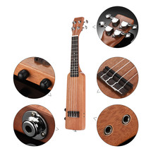 """21"""" Ukulele Solid Wood Okoume Electric Ukelele Kit with Guitar Tuner Bag... - $139.99"""