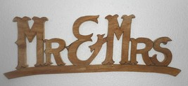India Wooden Letters Mr & Mrs nicely crafted home décor Size. 8.5x23.5x1... - $30.60