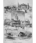 ST. LOUIS Views Olive Sreet Equitable Bldg - German Antique Print - $19.05
