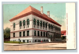 Vintage Early 1900's Postcard Public Library Portland Oregon POSTED - $15.81