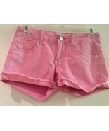 American Eagle Outfitters Stretch Pink Corduroy Cut Off Shorts Womens Si... - $10.95