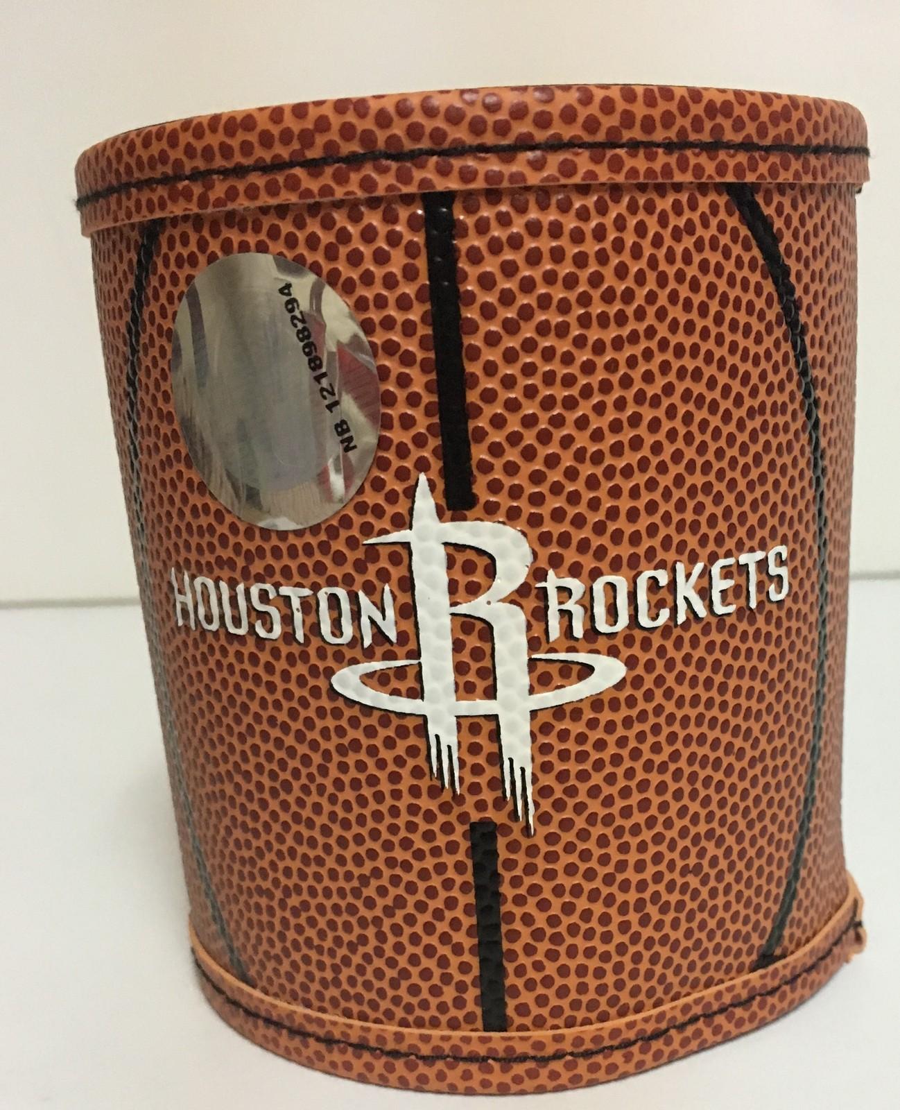 Houston Rockets Basketball Koozie Can Holder Logo NBA