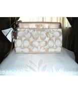 Coach Ladies Signature Pleated Wristlet Bag #44678 NWT - $65.99