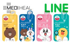 [MEDIHEAL] LINE FRIENDS AMPOULE Mask Sheet 27ml X 10pcs - $19.99