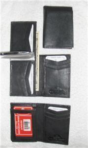 Genuine Leather Men's Tall Bi-Fold Wallet- #139 BLACK OR BROWN