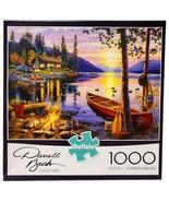 New Buffalo Games Darrell Bush Canoe Lake Campfire 1000 Pc Jigsaw Puzzle - $39.55