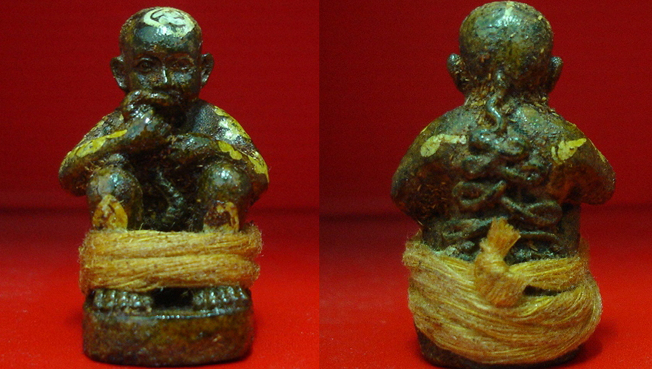 Authentic & Original Thai KUMANTHONG Dood Rok Lp Inn thai Monk POWERFUL Amulet