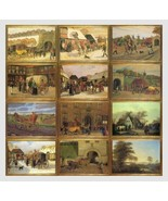 12 Cards, Charming Old Paintings, Danish Postal History - $25.00