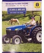 2007 New Holland TT45A, TT50A, TT60A, TT75A Tractors Brochure - $6.00