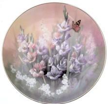 Bradford Exchange c1991 Knowles Jewels of the Flowers Ruby Elegance Tan Chun Chi - $43.32