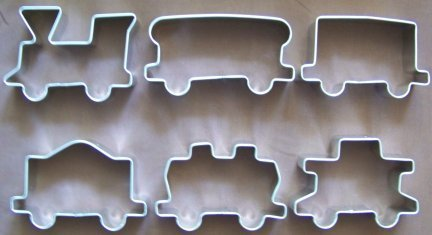 Primary image for Train set cookie cutters - 6 pieces - Only $24 with discount