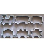 Train set cookie cutters - 6 pieces - Only $24 with discount - $30.00