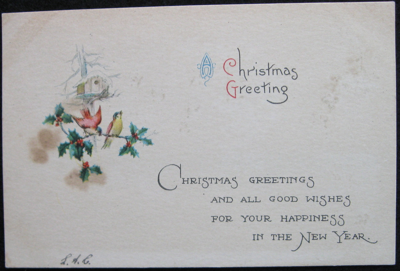 Primary image for Early Divided-back, Christmas Postcard, A Christmas Greeting, Goldfinch, 1931