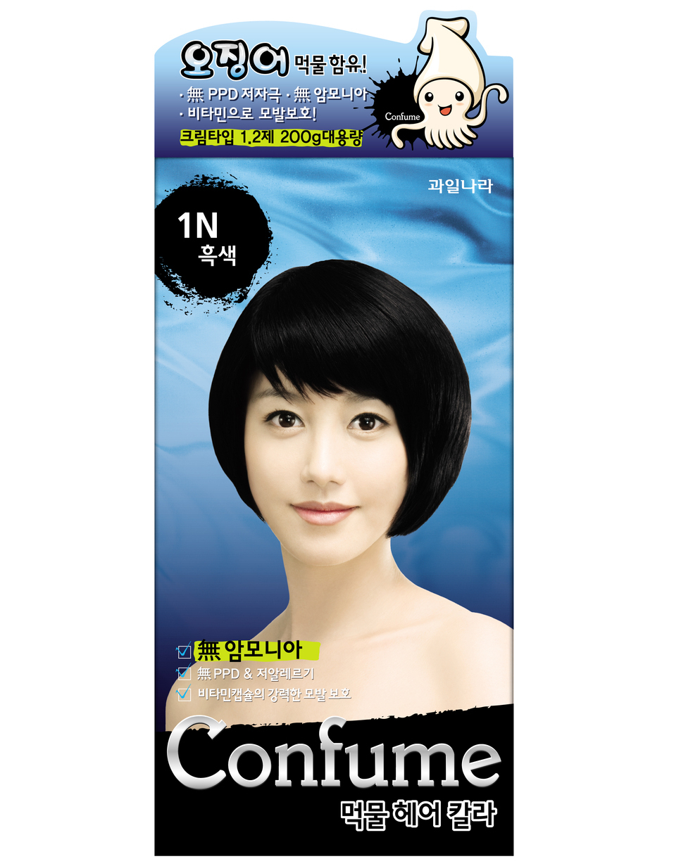 Primary image for CONFUME SQUID INK NATURAL HAIR COLOR DYE - 1N BLACK (NO AMMONIA)