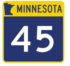 Minnesota State Highway 45 Sticker Decal R4737 Highway Route Sign  - $1.45+