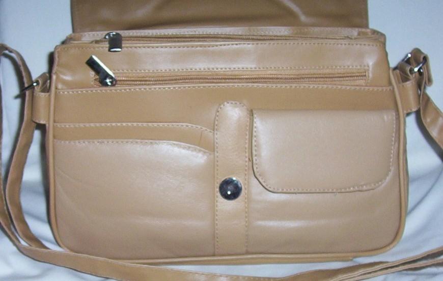 Genuine Leather Shoulder Bag/Handbag #78 TAN