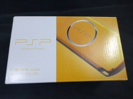 PlayStation Portable PSP Bright Yellow PSP-3000BY Sony Game Japan New - $298.99