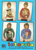 Vintage 4 Knitting Patterns FLINTSTONES Children Adult - $12.00