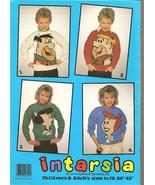 Vintage 4 Knitting Patterns FLINTSTONES Children Adult - $12.00