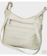 Genuine Leather Shoulder Bag/Handbag #74 CREAM - $25.00