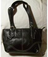 Genuine Leather Shoulder Bag/Handbag #95 BLACK - $23.00