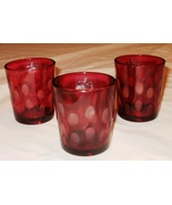 Red Votive Candleholders - Set of 3 - $9.99