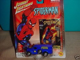 JL MARVEL SPIDERMAN WWII AMBULANCE CHASE CAR #15 RUBBER TIRES! FREE USA ... - $12.19