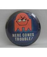 Pinback Button Pac Man Shadow Blinky Ghost 1982 Hallmark Vintage 1980s B... - $14.99