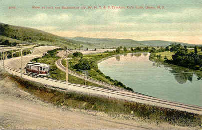 New York and Western Pennsylvania Traction Line at Olean Post New York Card