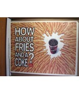 McDonald's Paper Placemat 1998 How About Fries and A Coke? - $8.09