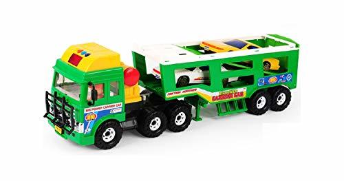 Daesung Toys Melody Lights Trailer Carrier Truck Car Vehicle Toy Playset