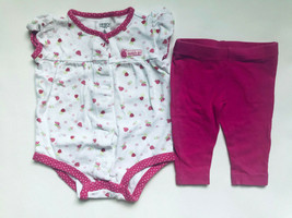 Girl's Size 6M 3-6 Months Two Piece White Ladybug Carter's Top & F Glory Legging - $15.00